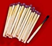 bränd match ut Royaltyfria Foton