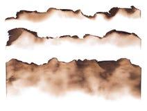 Brända pappers- kanter Fotografering för Bildbyråer