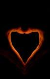 brännhet hjärta Royaltyfri Bild
