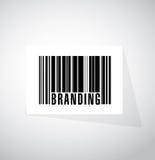 brännmärka illustrationen för barcodeteckenbegrepp Royaltyfri Fotografi