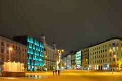 Brno. City square at night - brno royalty free stock photography
