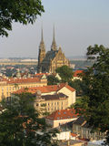 Brno. Cathedral in the Brno city Stock Photos