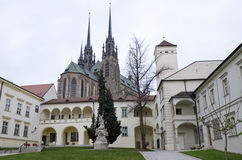 Brno, the Bishop's Courtyard and cathedral Royalty Free Stock Photos