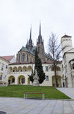 Brno, the Bishop's Courtyard and cathedral Stock Photography