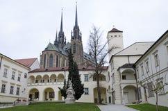 Brno biskupa podwórze i katedra, zdjęcia royalty free