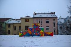 Brno boisko w zimie fotografia stock