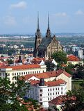 Brno and the cathedral, Czech Republic, Europe Stock Images