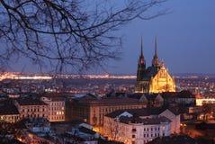 brno central tjeckisk Europa tekniker Royaltyfri Bild