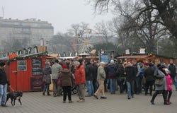 Brno, Checo república-dezembro 12,2014: Mercado do Natal em Moravia Fotografia de Stock