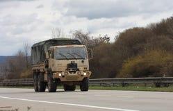 Brno, Checo República-março 30,2015: Passeio do Dragoon - trem do exército dos EUA Fotos de Stock Royalty Free