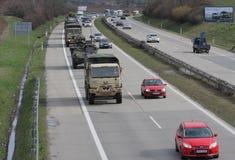 Brno, Checo República-março 30,2015: Passeio do Dragoon - trem do exército dos EUA Foto de Stock
