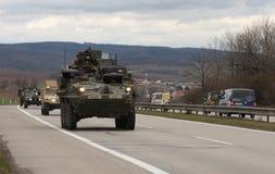 Brno, Checo República-março 30,2015: Passeio do Dragoon - trem do exército dos EUA Imagem de Stock Royalty Free