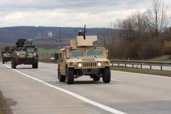 Brno, Checo República-março 30,2015: Passeio do Dragoon - trem do exército dos EUA Foto de Stock Royalty Free