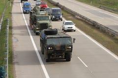 Brno, Checo República-março 30,2015: Passeio do Dragoon - trem do exército dos EUA Imagens de Stock Royalty Free