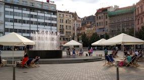 Brno city centre. Freedom Square of Brno city center Stock Photos
