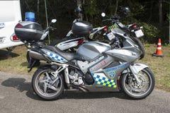Brno city police motorbike Stock Photos