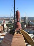BRNO VUT. BRNO CITY VUT TOWER AND SPILBERK stock photo