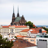 Brno cityscape with Cathedral of St Peter and Paul Royalty Free Stock Photo