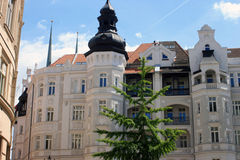 Brno Croatia. The delicacy of a beautiful whiter building in the street of Brno Royalty Free Stock Image