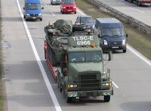 Brno, czech marzec 30,2015: Dragon przejażdżka - wojsko usa konwój Obraz Royalty Free