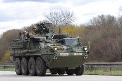 Brno, czech marzec 30,2015: Dragon przejażdżka - wojsko usa konwój Obraz Stock