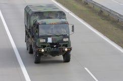Brno, czech marzec 30,2015: Dragon przejażdżka - wojsko usa konwój Obrazy Royalty Free