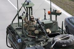 Brno, czech marzec 30,2015: Dragon przejażdżka - wojsko usa konwój Zdjęcie Stock