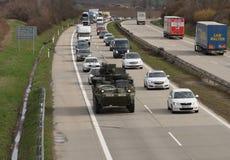 Brno, czech marzec 30,2015: Dragon przejażdżka - wojsko usa konwój Zdjęcia Stock