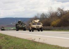 Brno, czech marzec 30,2015: Dragon przejażdżka - wojsko usa konwój Fotografia Royalty Free