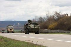 Brno, czech marzec 30,2015: Dragon przejażdżka - wojsko usa konwój Fotografia Stock
