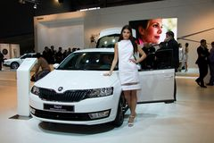 Skoda Octavia 3rd Generation on display at the 11th edition of International Autosalon Brno Stock Photos