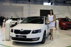 Skoda Octavia 3rd Generation on display at the 11th edition of International Autosalon Brno Royalty Free Stock Photos