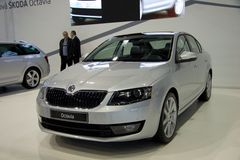 Skoda Octavia 3rd Generation on display at the 11th edition of International Autosalon Brno Royalty Free Stock Image