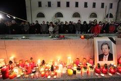 BRNO, CZECH REPUBLIC, DECEMBER 18: Hundreds of peo Stock Photo