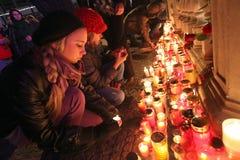 BRNO, CZECH REPUBLIC, DECEMBER 18: Hundreds of peo Royalty Free Stock Photos
