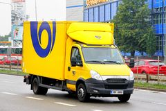 Iveco Daily. Brno, Czech Republic - July 22, 2014: Cargo van Iveco Daily in the city street royalty free stock photography