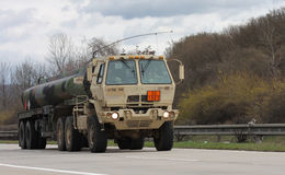 Brno,Czech Republic-March 30,2015:Dragoon Ride - US army convoy Stock Photos