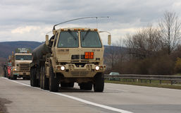 Brno,Czech Republic-March 30,2015:Dragoon Ride - US army convoy