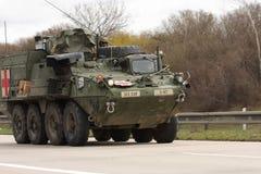 Brno,Czech Republic-March 30,2015:Dragoon Ride - US army convoy Stock Photos
