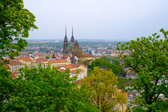 Brno day time old city landscape Royalty Free Stock Images