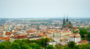 Brno day time old city landscape Stock Images