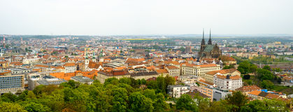 Brno day time old city landscape Royalty Free Stock Photos