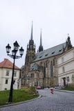 Brno den gotiska domkyrkan Royaltyfria Bilder