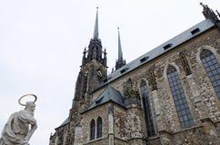 Brno den gotiska domkyrkan Arkivfoto
