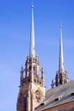 Brno. Domkyrka av helgon Peter och Paul Royaltyfria Foton