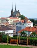Brno domkyrka av St Peter och Paul, Tjeckien, Europa Arkivfoto