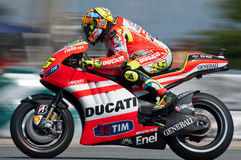 BRNO - Ducati team - Valentino Rossi Stock Photos