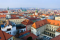 Brno historic center. View of the historic center in Brno the Czech Republic royalty free stock photography