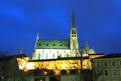 Brno in night Stock Photos