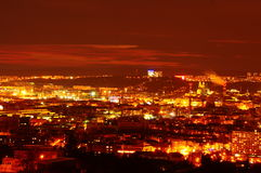 Brno in night Royalty Free Stock Image